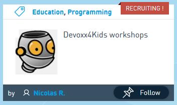 Devoxx4kids project card