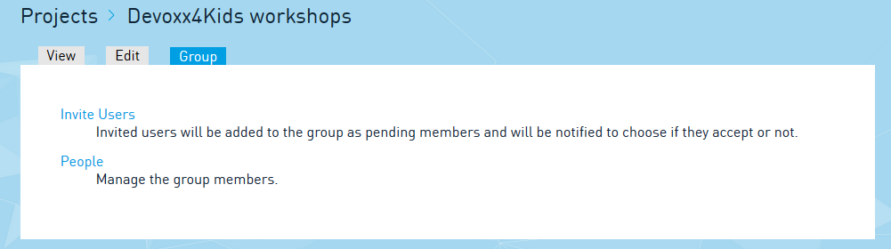 Manage your group